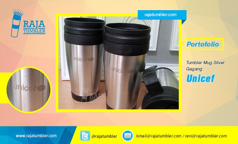 Tempat-Bikin-Mug,-Mug-Stainless-Murah,-Mug-Souvenir,-Mug-Promosi,-Mug-Silver-Gagang-Unicef