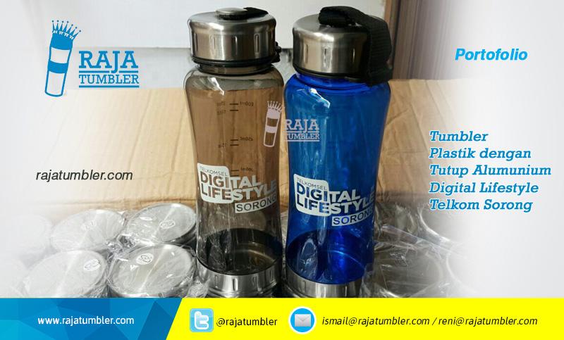 Produsen Tumbler-Plastik-Digital-Lifestyle,-Grosir Tumbler-Plastik-Telkom-Papua-Sorong,-portfolio-Raja-Tumbler